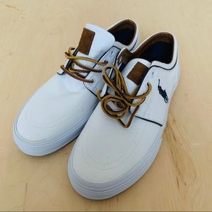 Polo  by ralph lauren men shoes  white